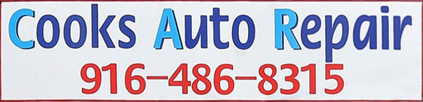 Cooks Auto Repair Sign